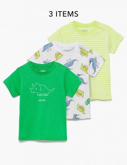 מארז 3 חולצות טי דינוזאורים