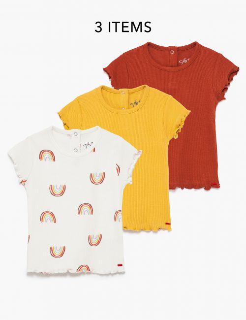 מארז 3 חולצת טי רטרו