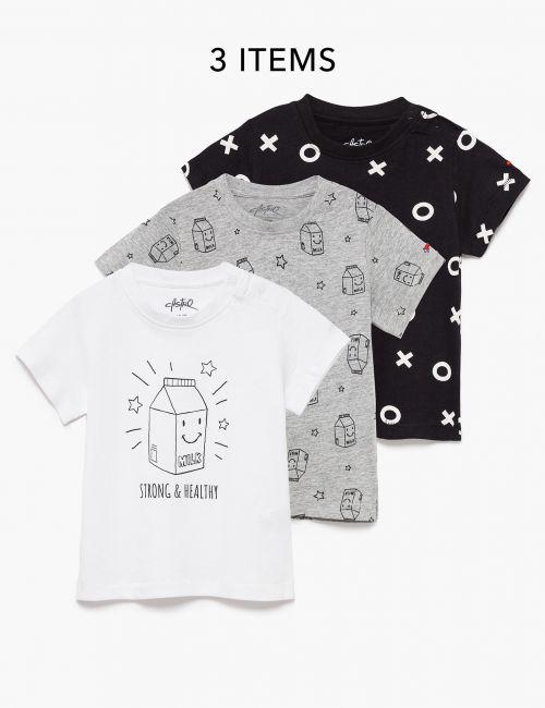 מארז 3 חולצות טי מודפסות