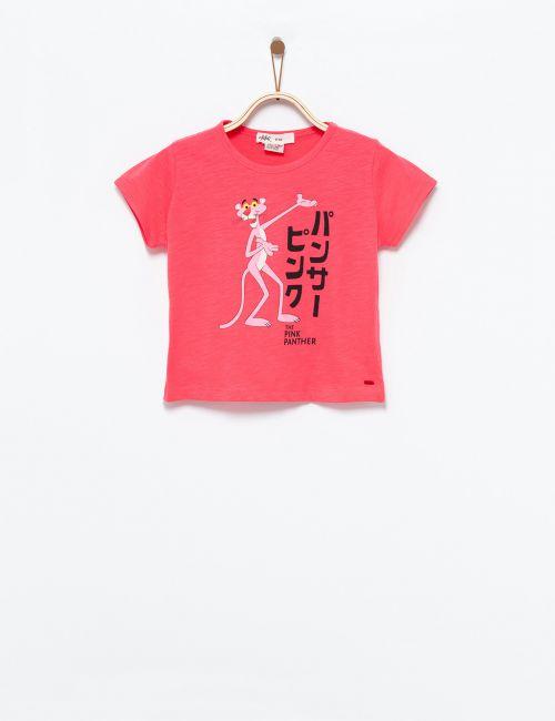 חולצת טי הפנתר הורוד יפני
