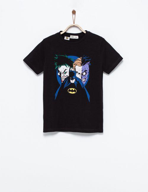 חולצת טי בהדפס באטמן וג'וקר
