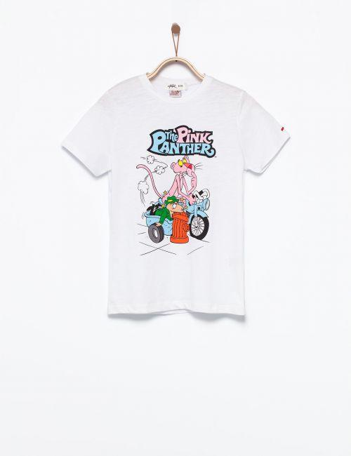 חולצת טי הפנתר הורוד על אופנוע