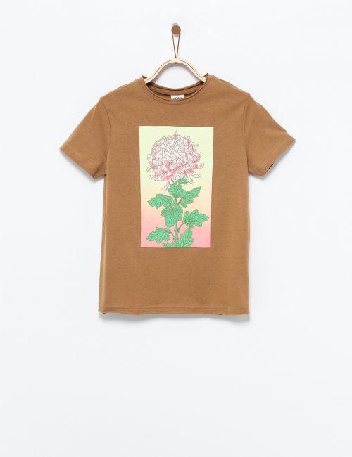 חולצת טי דפוס פרח