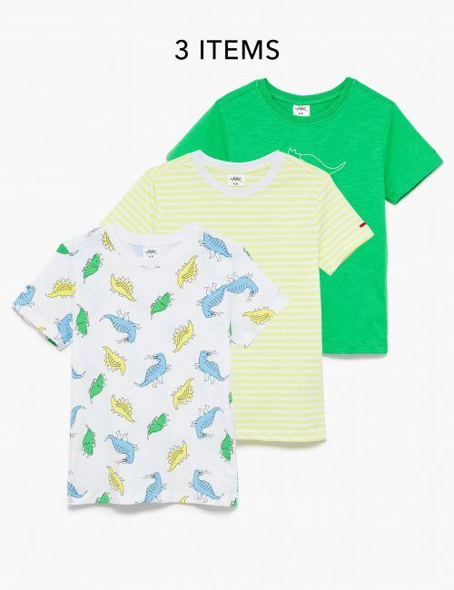 מארז 3 חולצת טי מודפסות