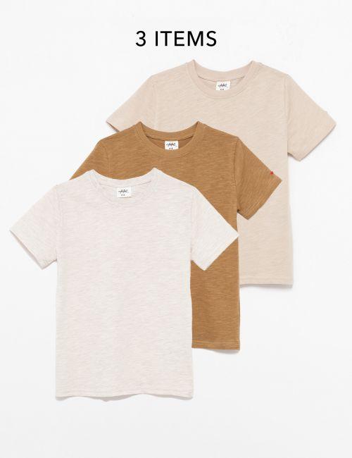 מארז 3 חולצות טי בייסיק