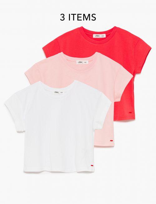 מארז 3 חולצות טי