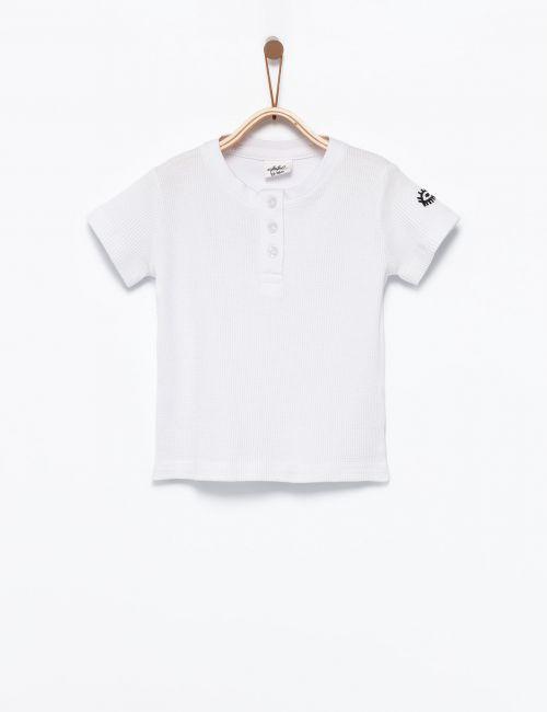 חולצת טי בטקסטורת וופל