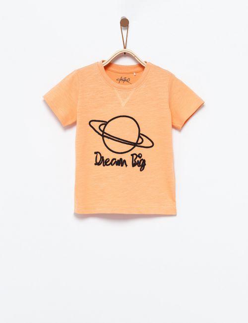 חולצת טי עם רקמת כוכב לכת