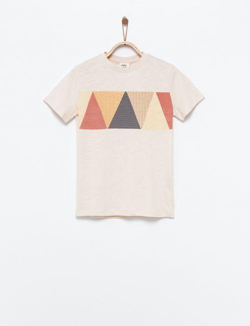 חולצת טי בהדפס משולשים