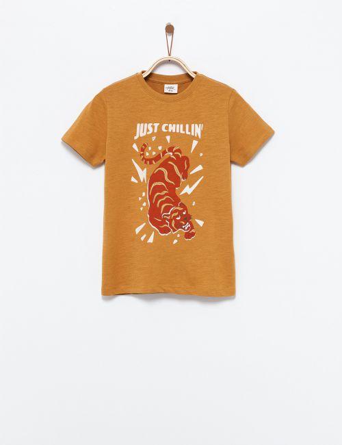 חולצת טי בהדפס חיה