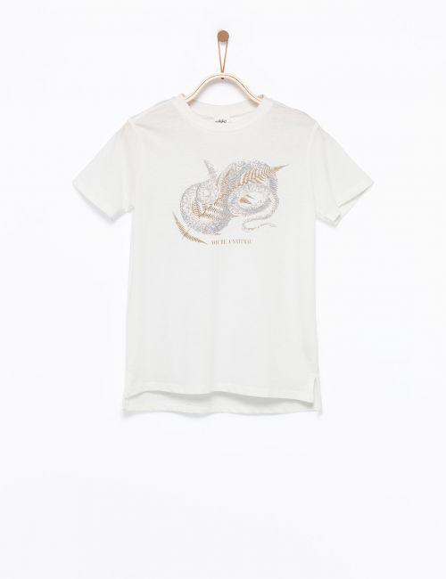 חולצת טי בהדפס נחש
