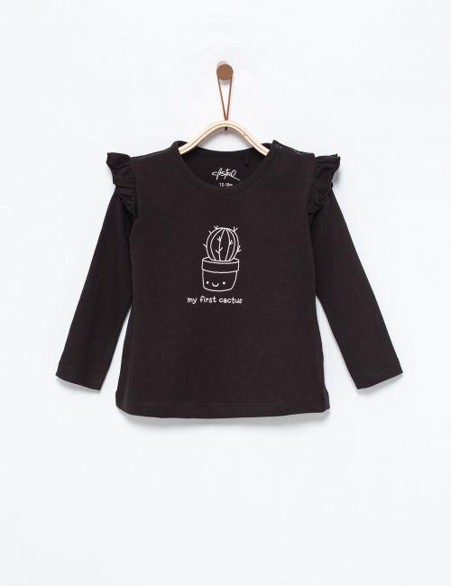 חולצת טי בהדפס קקטוס