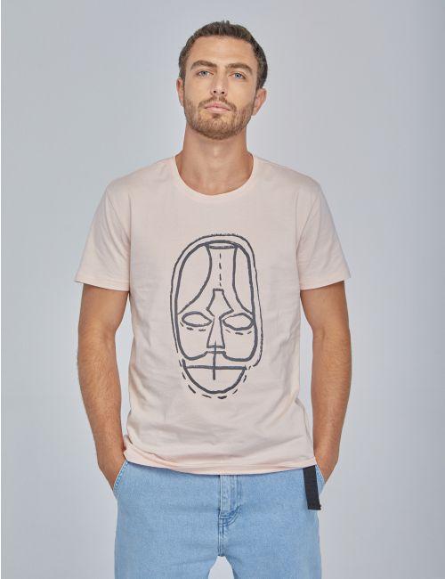 חולצת טי בהדפס מסכת פנים