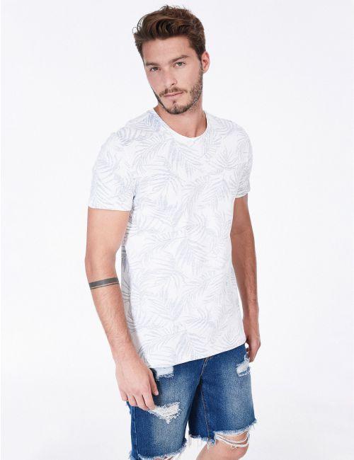 חולצת טי בהדפס עלים