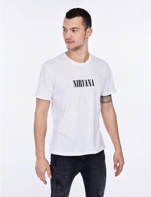 חולצת טי בהדפס NIRVANA