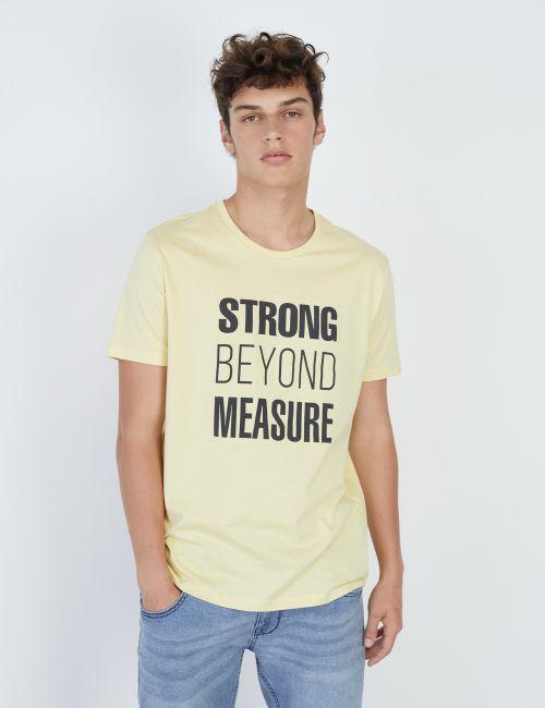 חולצת טי טקסט קדמי