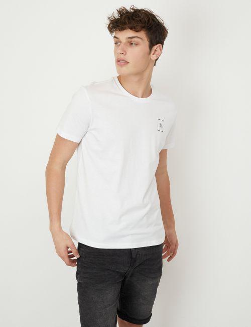 חולצת טי לוגו בגזרה צמודה