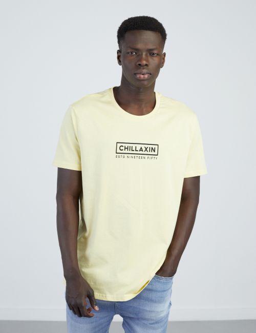 חולצת טי עם הדפס קדמי