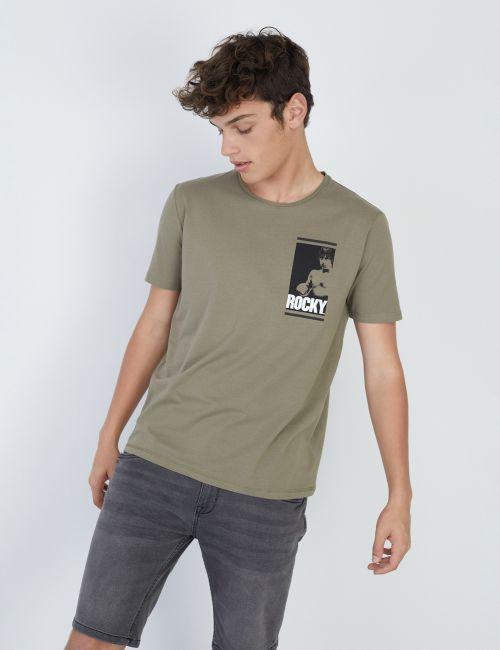 חולצת טי בהדפס ROCKY