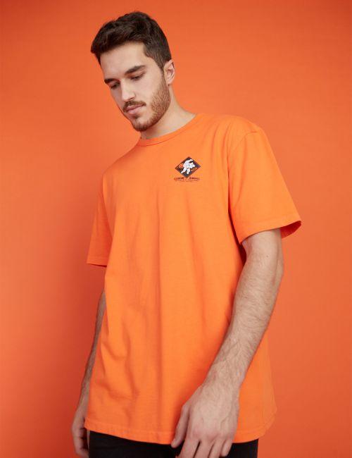 חולצת טי אוברסייז הדפס חלל
