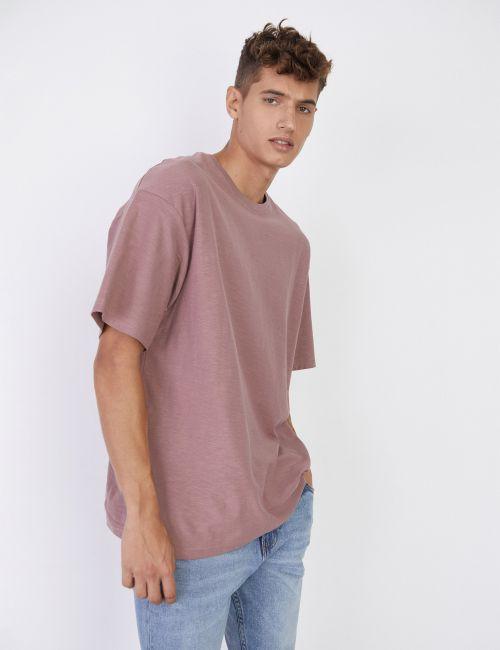 חולצת טי חלקה אוברסייז