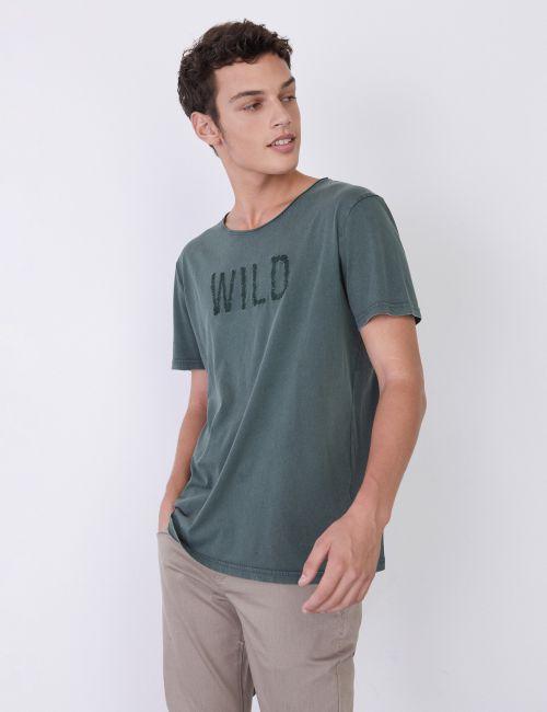 חולצת טי עם הדפס WILD