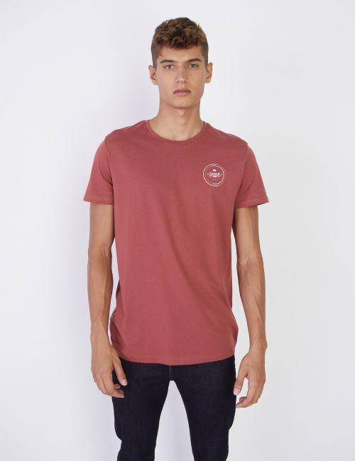 חולצת טי עם הדפס עגול