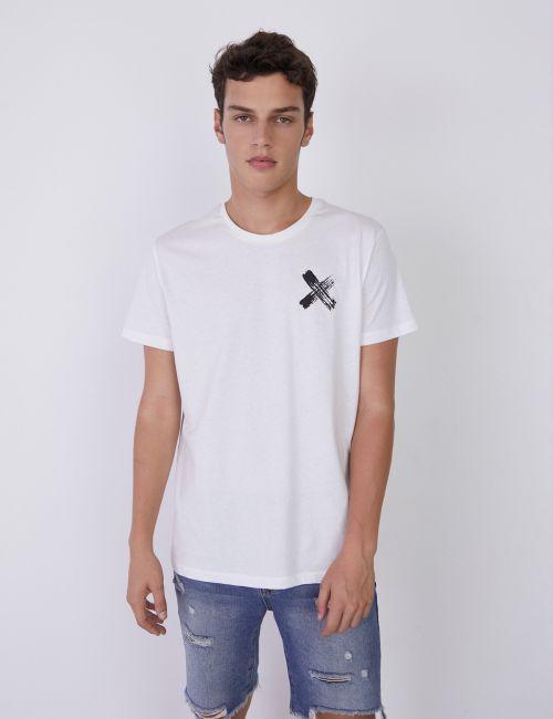 חולצת טי בהדפס איקס