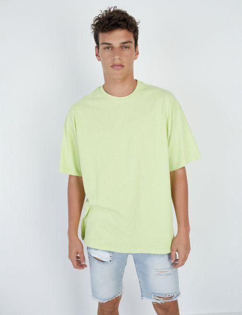חולצת טי אוברסייז ניאון