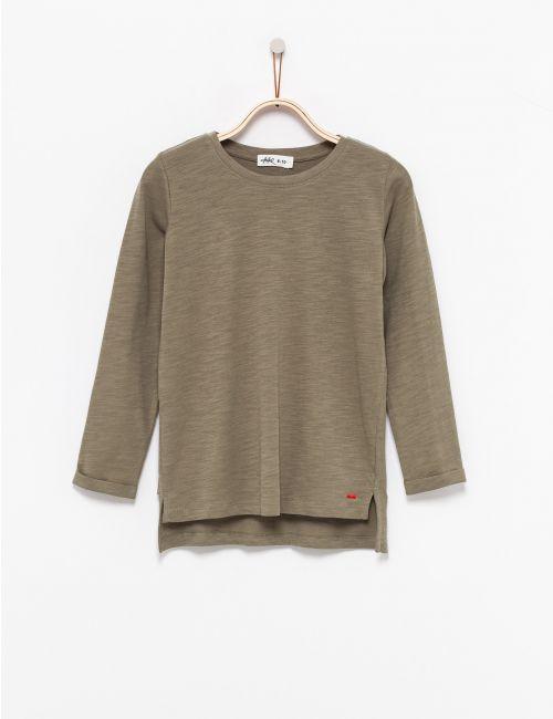 חולצת טי סלאב בסיומת אסימטרית