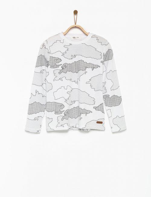 חולצת טי מפת עולם