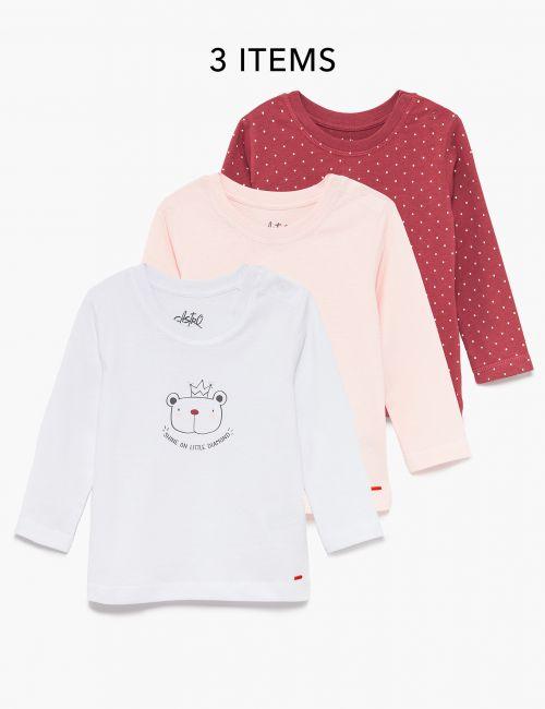 מארז 3 חולצות בהדפס חיות