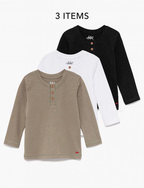 מארז 3 חולצות טי כפתורים