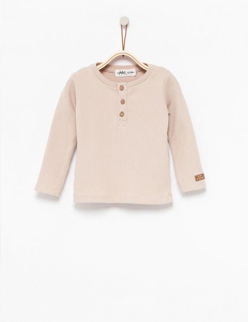 חולצת טי ריב כפתורים