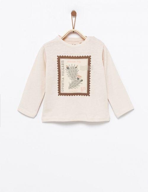 חולצת טי בהדפס בול קקטוס