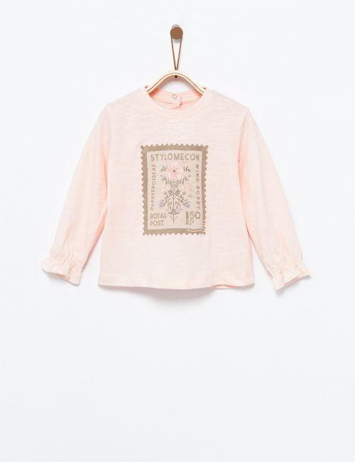 חולצת טי בהדפס בול פרח