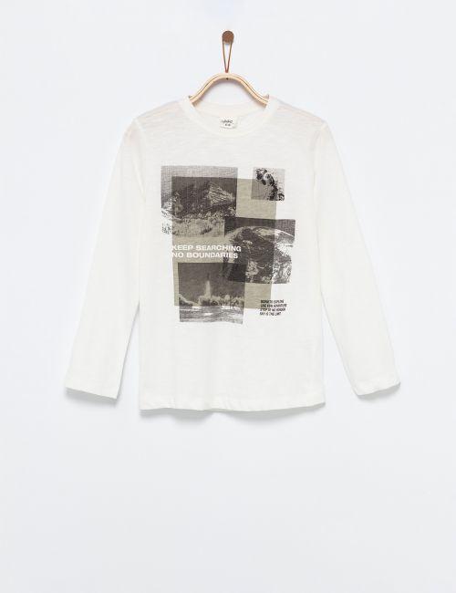 חולצת טי פוטופרינט חלל והרים