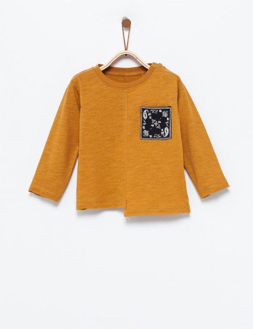 חולצת טי כיס בנדנה