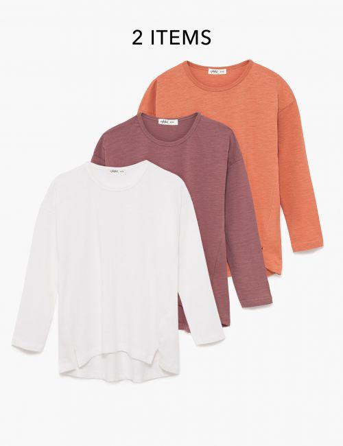 מארז 3 חולצת טי סלאב ארוכות