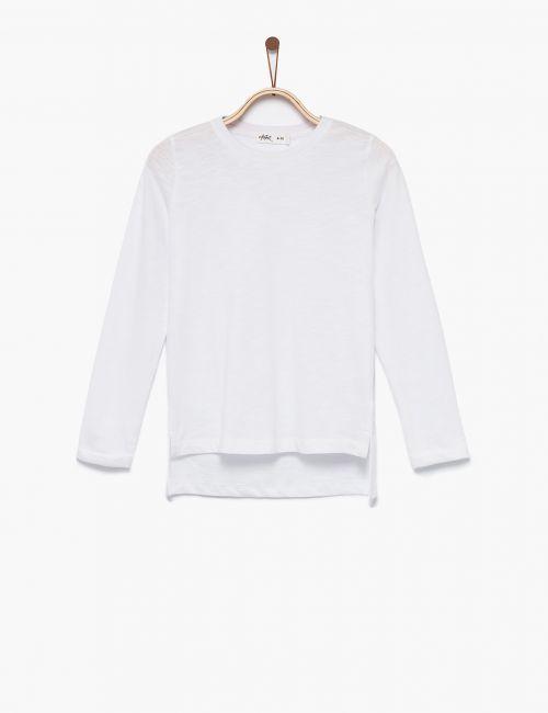 חולצת טי אסימטרית שרוולים ארוכים