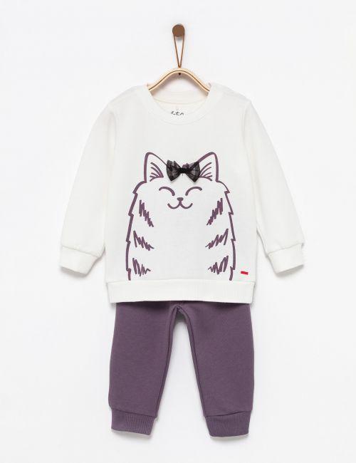 חליפת גן חתול עם פפיון