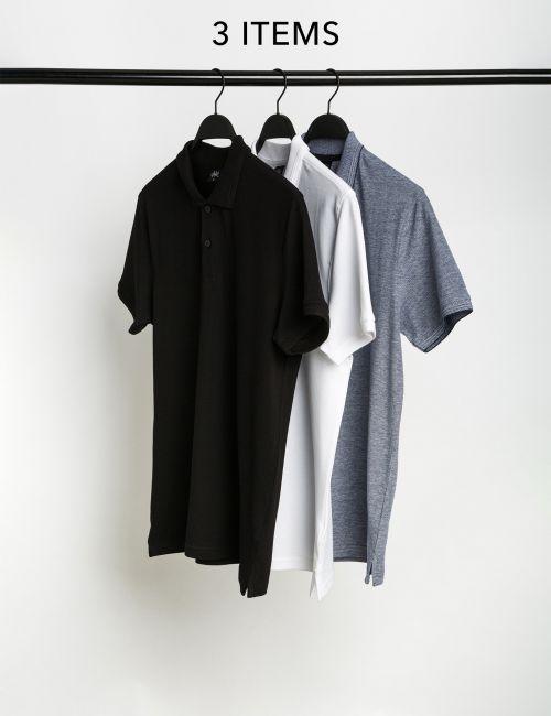 מארז 3 חולצות פולו בייסיק