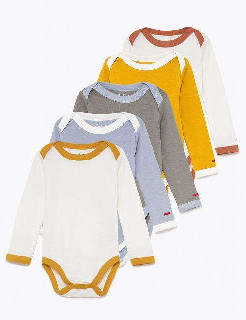 חמישיית בגדי גוף צבעוניים