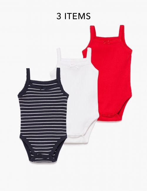 מארז 3 בגדי גוף ריב מודפסים