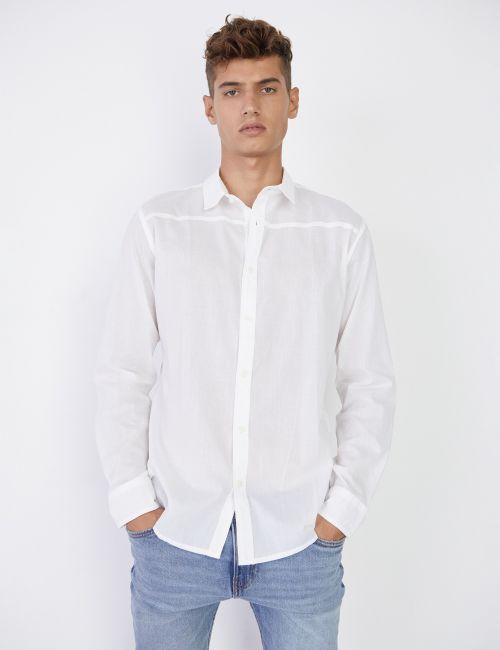 חולצה מכופתרת לבנה