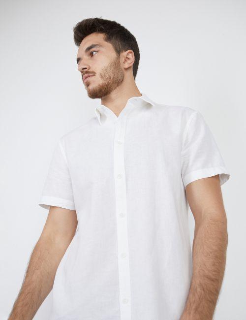 חולצה מכופתרת במראה מכובס