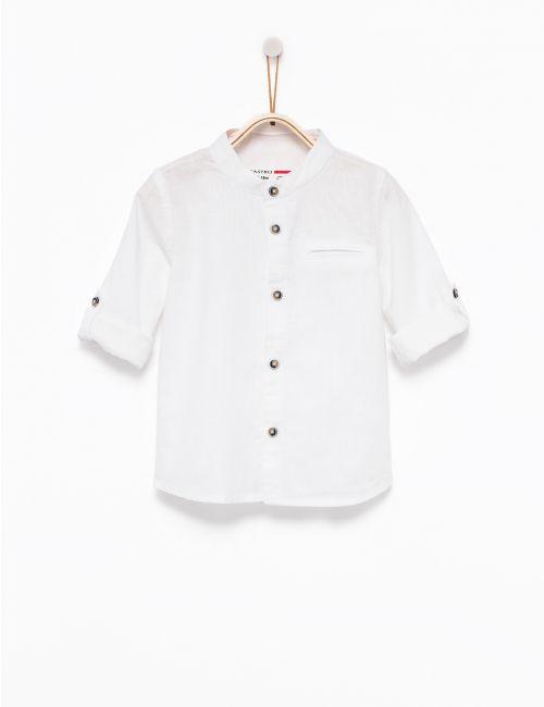 חולצה מכופרת פשתן