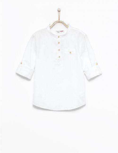 חולצה ארוכה עם צווארון סיני