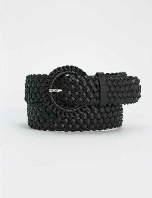 חגורה שחורה קלועה
