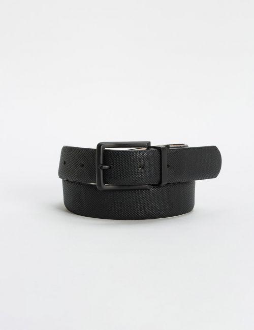חגורה דו צדדית שחור ובז'